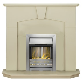 2000W Abbey Stone Effect Electric Fireplace Suite