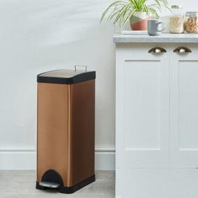 Copper 30L Slim Bin