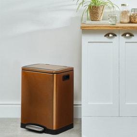 Copper 30L Low Recycling Bin