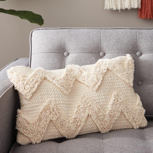 Zig Zag Natural Cushion Natural