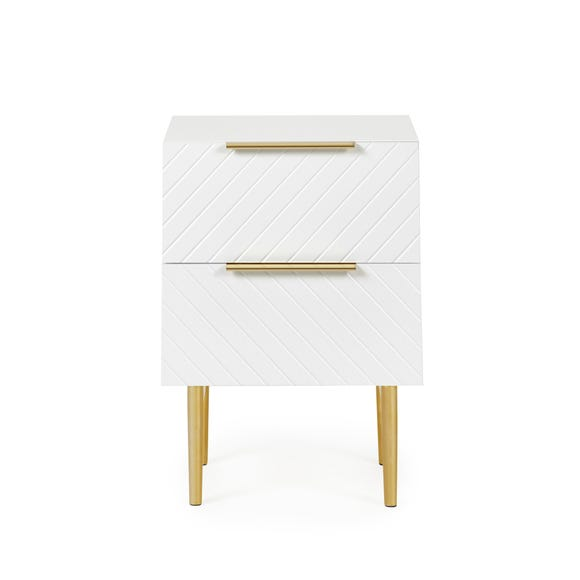 Maurice Bedside Table White