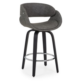 Torcello Bar Stool Grey PU Leather