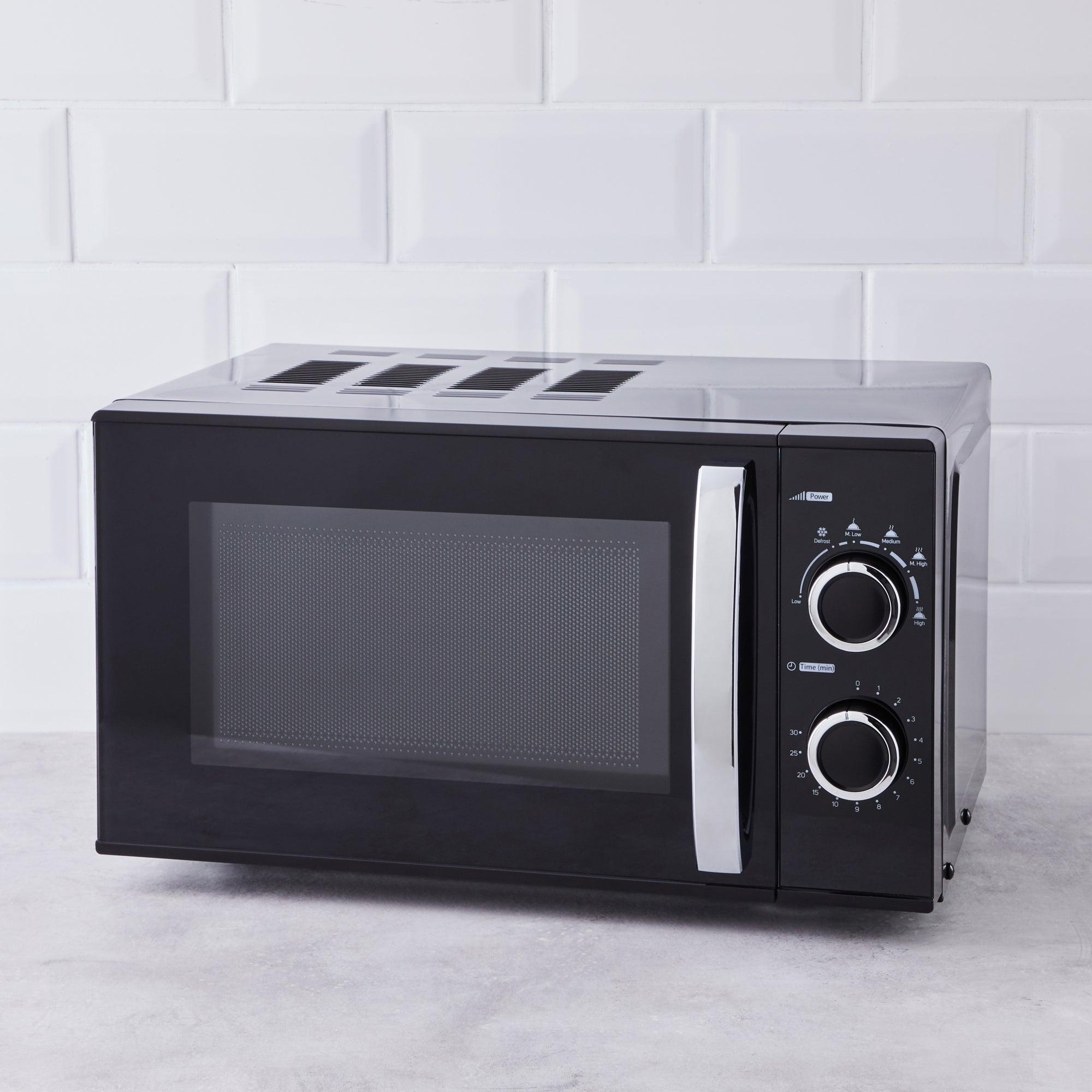 Black 20l 700w Manual Microwave Black