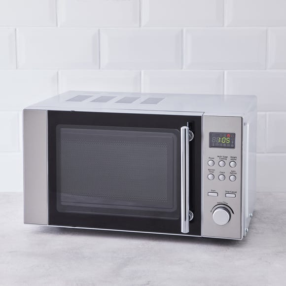 Dunelm 20L 700W Stainless Steel Microwave Silver
