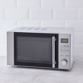 Dunelm 20L 700W Stainless Steel Microwave