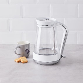 White Glass Jug Kettle