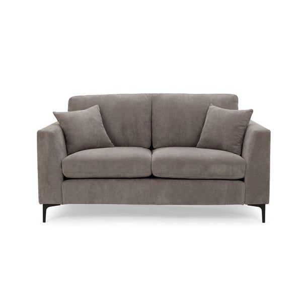 Edison Velvet 2 Seater Sofa - Grey