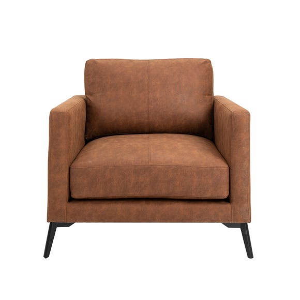 Frey PU Leather Armchair - Tan