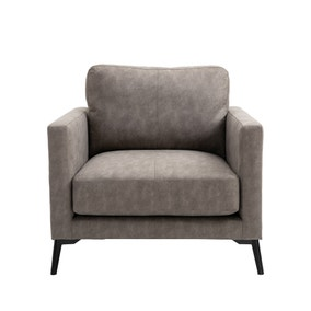 Frey PU Leather Armchair - Grey