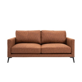 Frey PU Leather 2 Seater Sofa - Tan