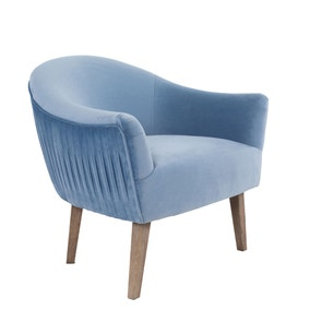 Lacey Velvet Accent Chair - Blue