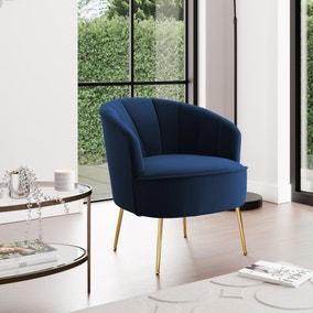Matilda Velvet Shell Chair