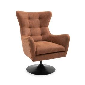 Roan PU Leather Swivel Chair - Tan