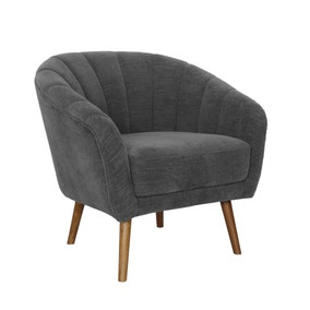 Romilly Chenille Armchair - Dark Grey