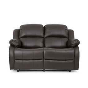 Anton Bonded Leather Reclining 2 Seater Sofa - Grey