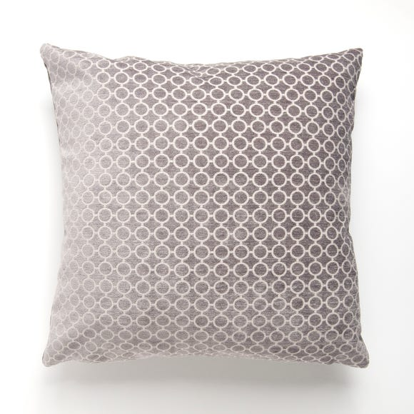 Reluxed Silver Circle Patterned Cushion Silver