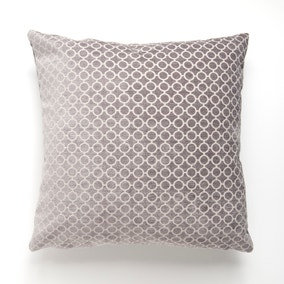 Reluxed Silver Circle Patterned Cushion