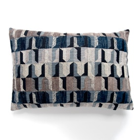 Regent Navy Geometric Cushion