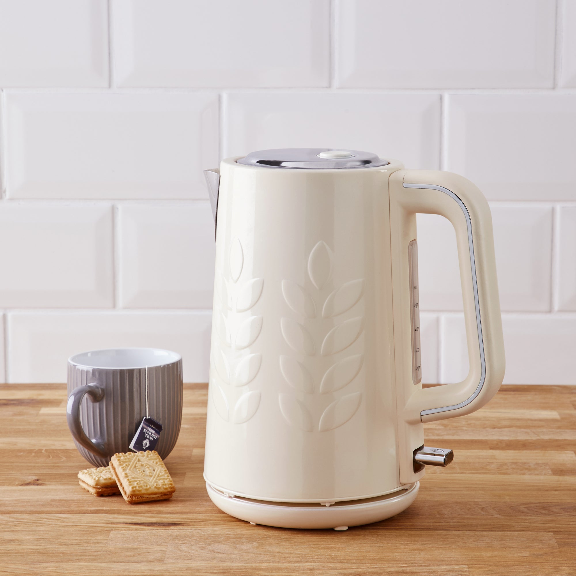 Click to view product details and reviews for Vete 17l 3kw Cream Kettle Cream And Silver.