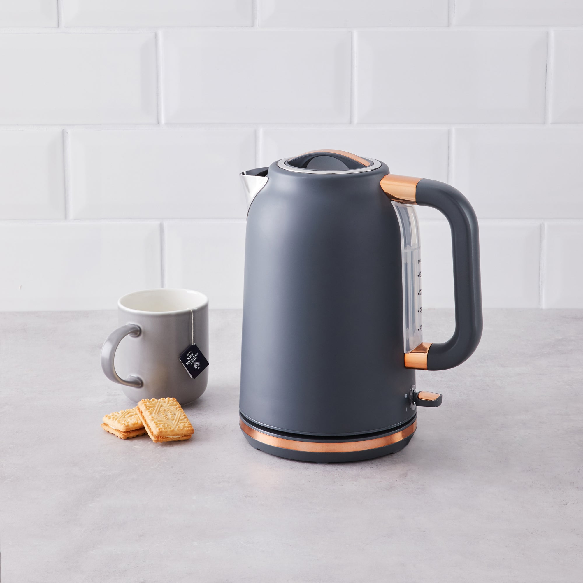 Grey With Copper Accents Kettle Grey And Gold