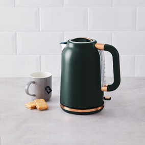 Peacock with Copper Accents Kettle
