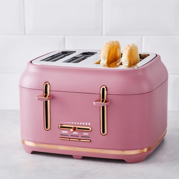 Blush with Copper Accents Toaster Pink
