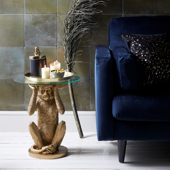 Monkey Side Table Gold