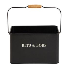 Matt Black Wooden Bits and Bobs Caddy