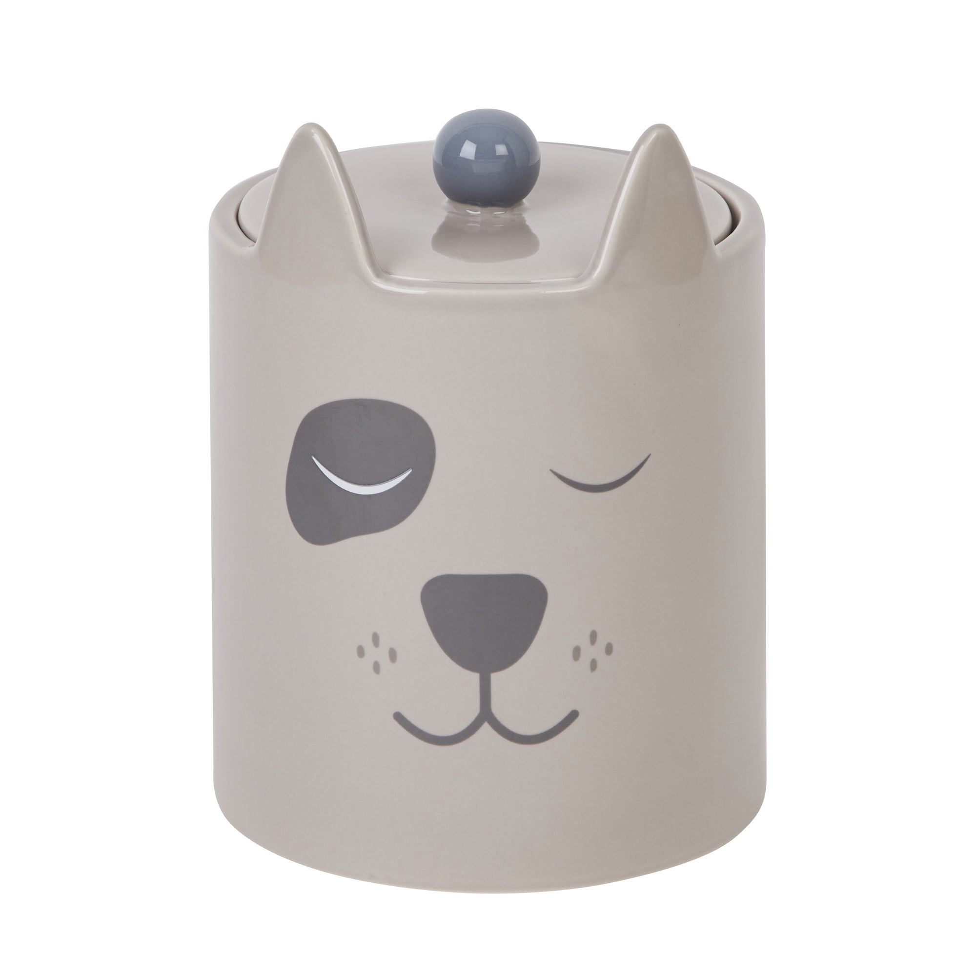 Dog Shaped Treat Jar Dark grey