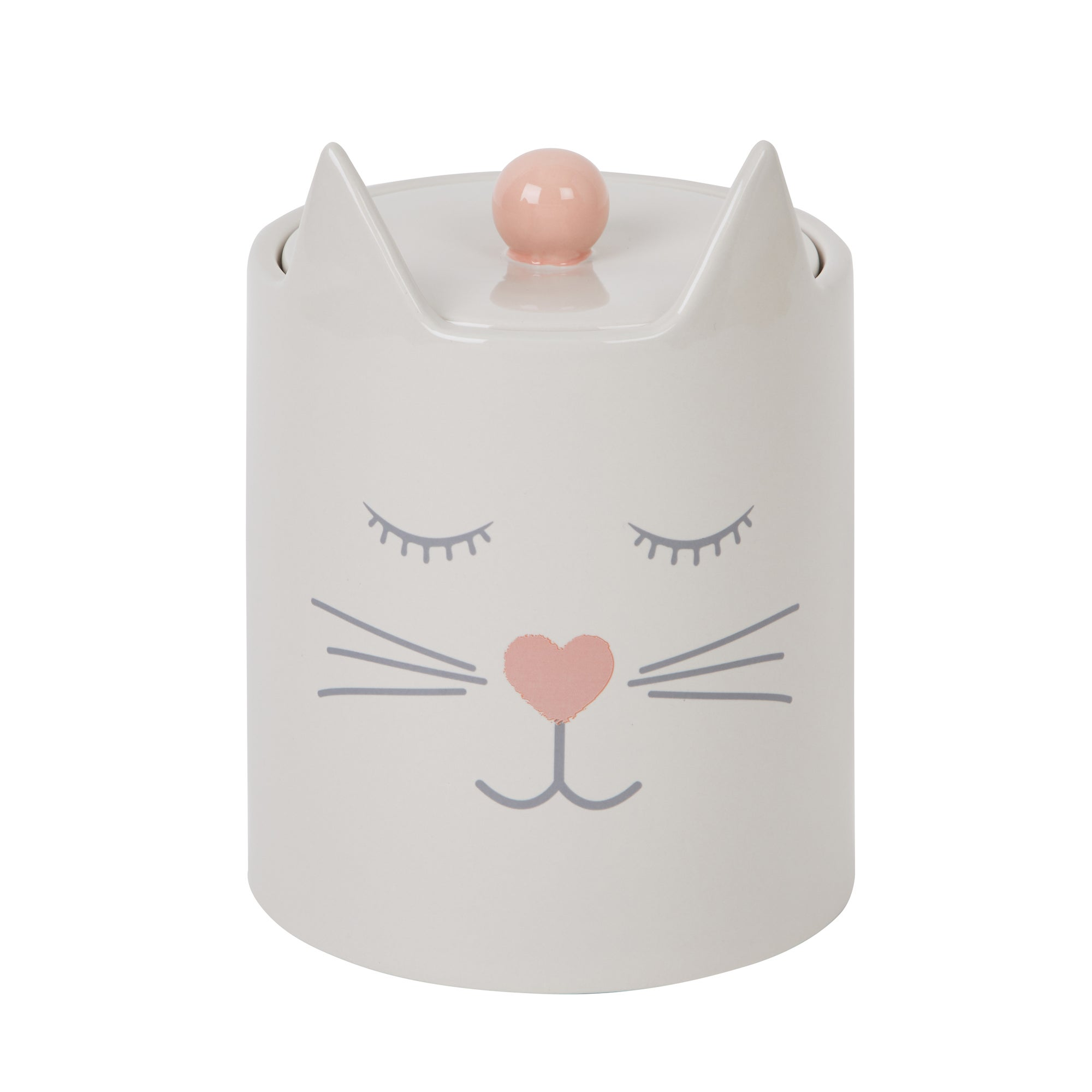 Cat Shaped Treat Jar Light grey