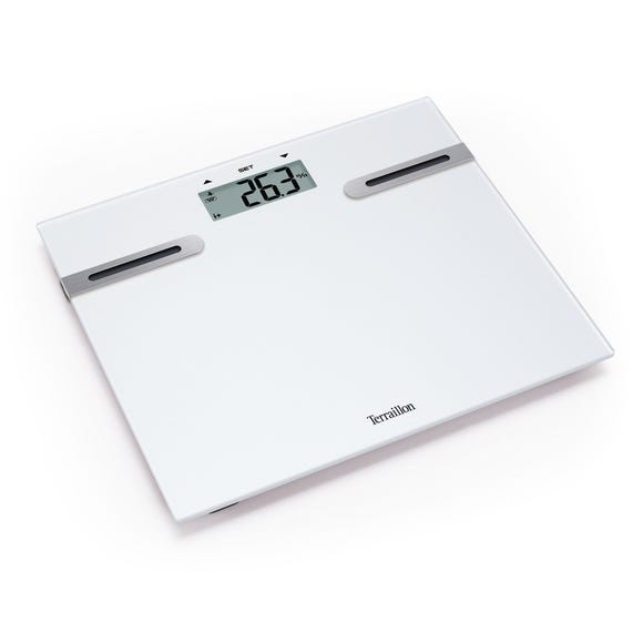 Terraillon White Body Fat Analyser Scales White