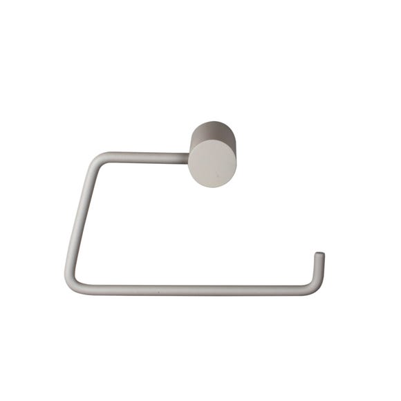 Elements Soft Touch Grey Toilet Roll Holder Grey