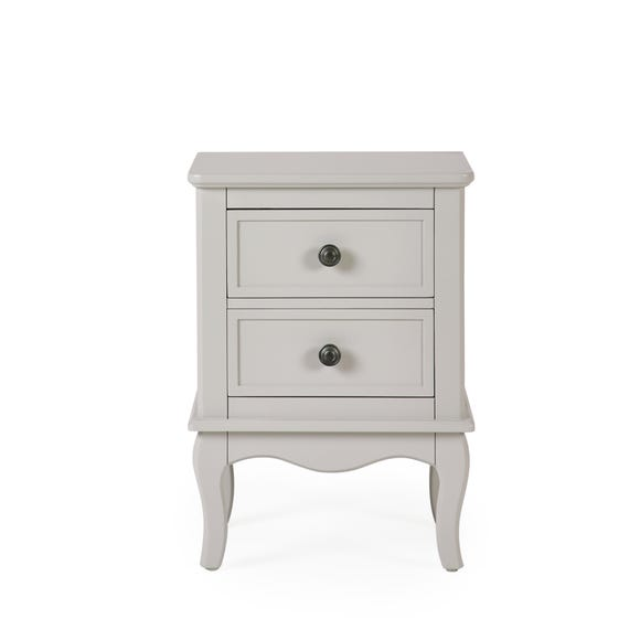 Clara 2 Drawer Bedside Table Grey