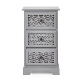 Carys 3 Drawer Bedside Table