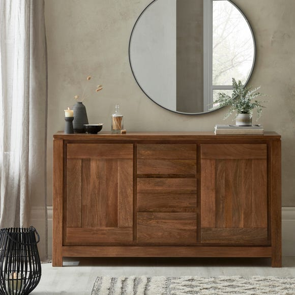 Harlam Large Sideboard Oak (Brown)