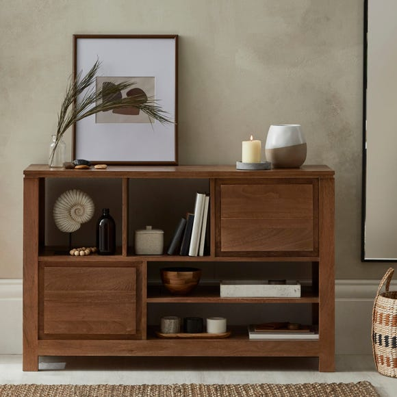 Harlam Low Shelf Oak (Brown)