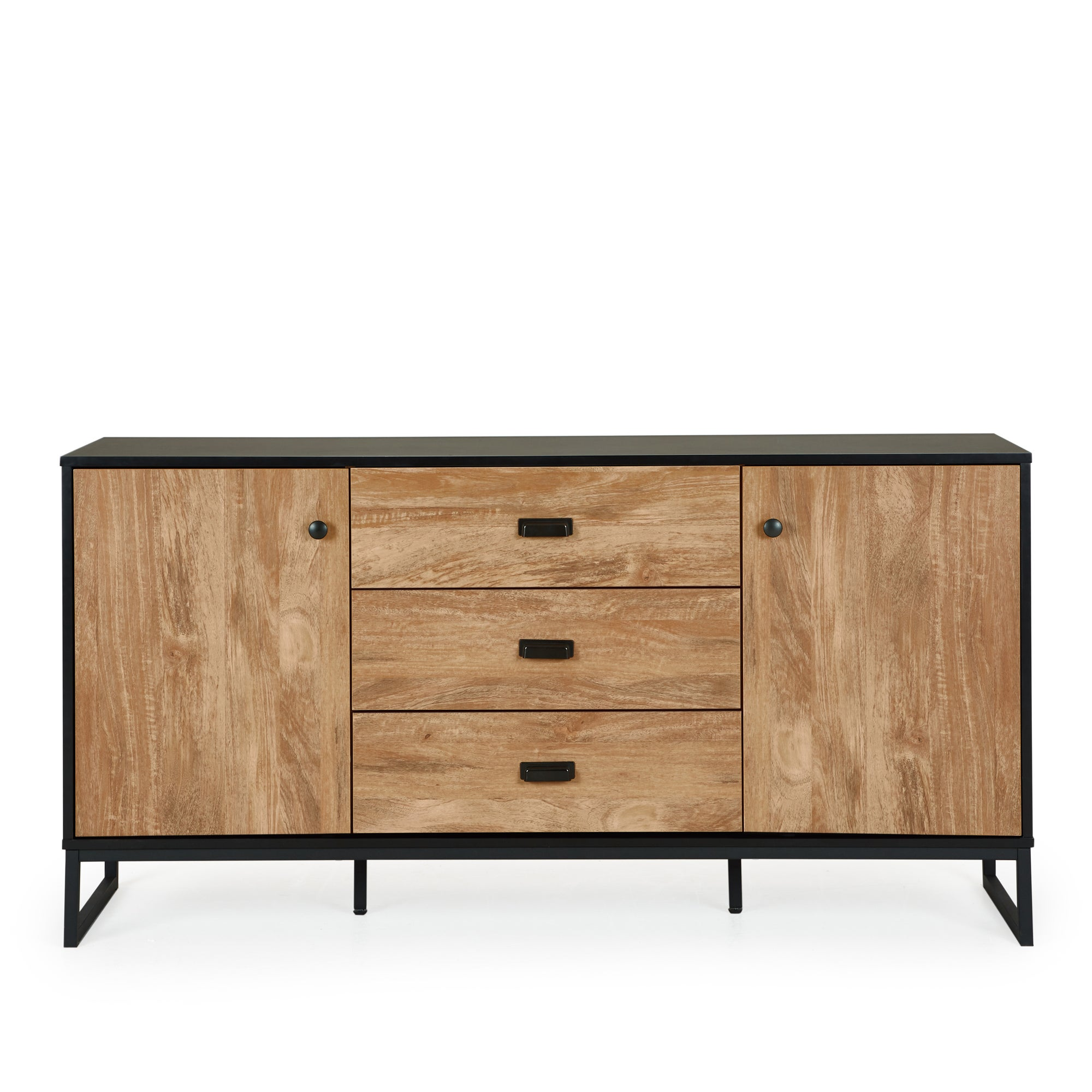Greenwich Large Sideboard Black and Brown