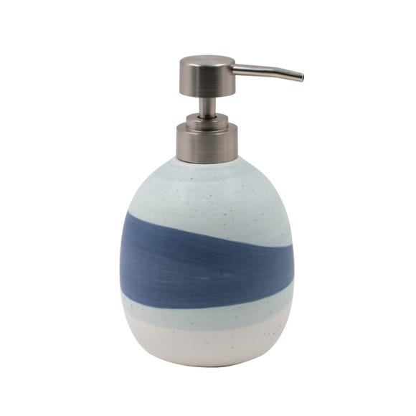 Nautical Dipped Ceramic Lotion Dispenser Blue