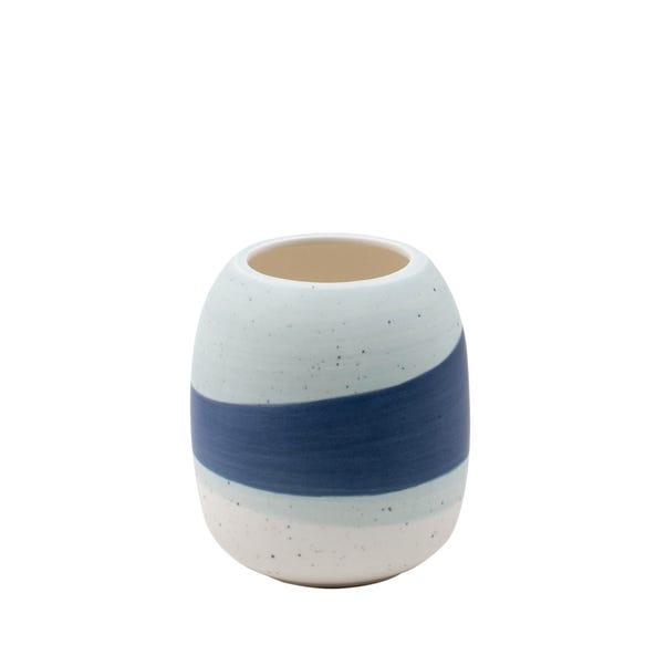 Nautical Dipped Ceramic Tumbler Blue