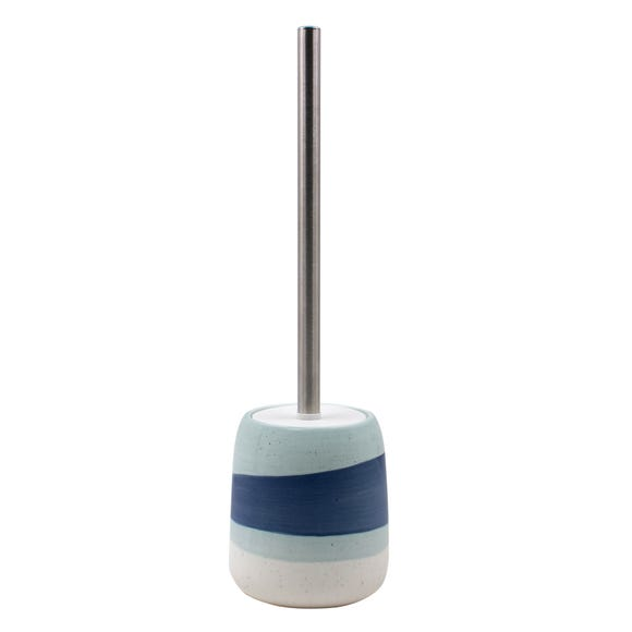 Nautical Dipped Ceramic Toilet Brush Blue