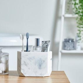 Marble Resin Toothbrush Holder