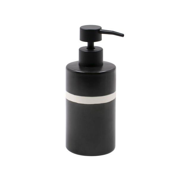 Monochrome Ceramic Lotion Dispenser Black