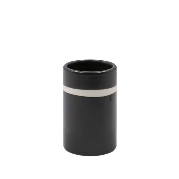 Monochrome Ceramic Tumbler Black