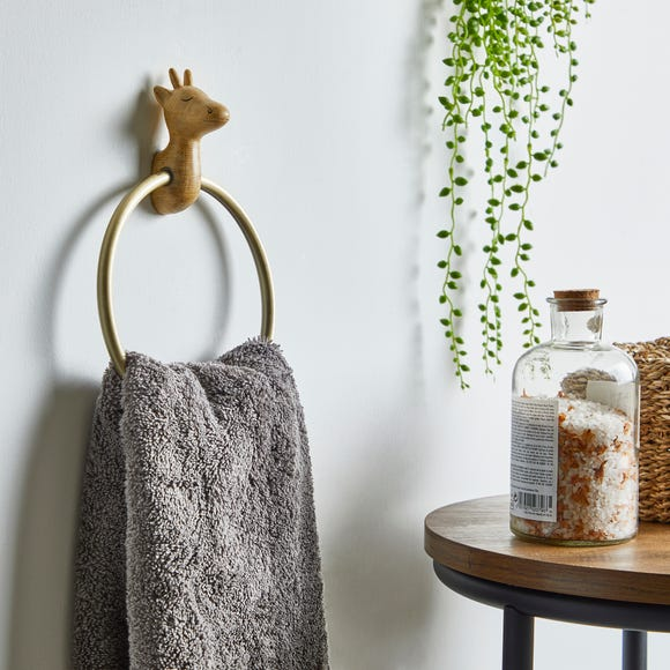 Giraffe Towel Ring Brown
