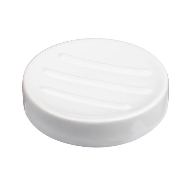 Basic White Ceramic Soap Dish White