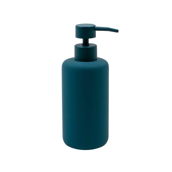 Elements Soft Touch Matt Teal Lotion Dispenser Blue