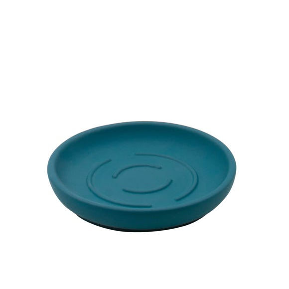 Elements Soft Touch Teal Soap Dish Blue