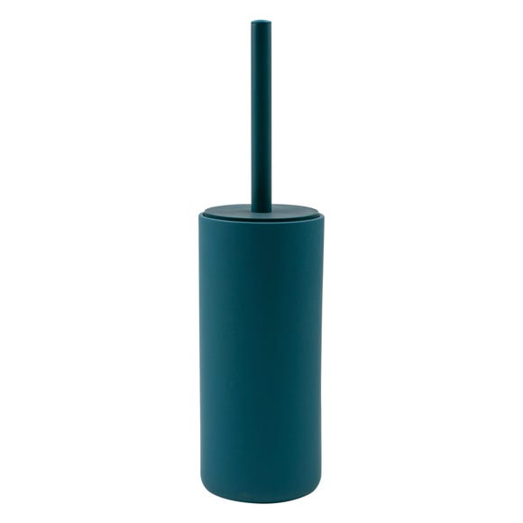 Elements Soft Touch Teal Toilet Brush Blue