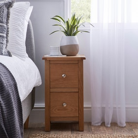 Bromley Oak Slim Bedside Table