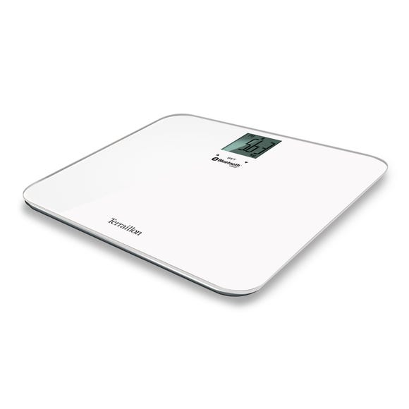 Terraillon White Coach Form Bluetooth Bathroom Scales White